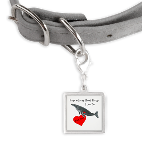 Personalized Whale Small Square Pet Tag