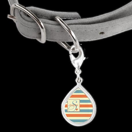 Mid-Tone Stripe Monogram - Personalized Small Tear