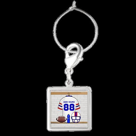 Personalized American Football Grid Iron WRB Squar