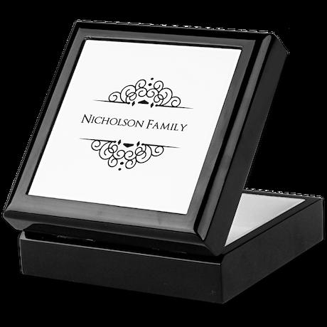Personalized family name Keepsake Box