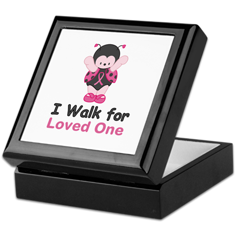 Walk For Ladybug Keepsake Box