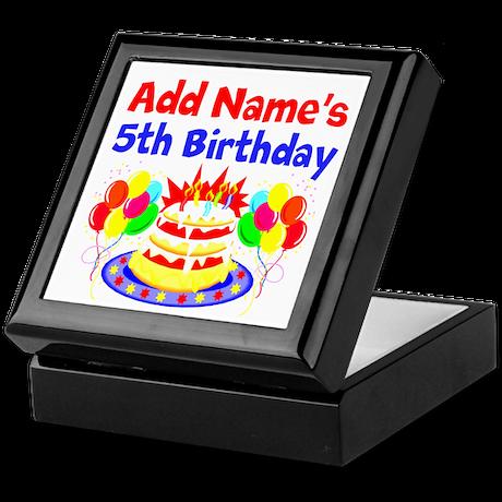 HAPPY 5TH BIRTHDAY Keepsake Box