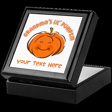 Grandma's Little Pumpkin Personalized Keepsake Box