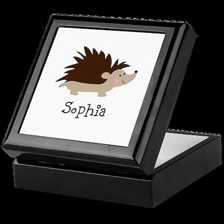 Custom Name Hedgehog Keepsake Box