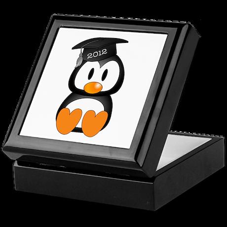 Custom Graduation Penguin Keepsake Box