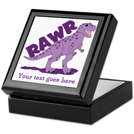 Personalized Purple Dinosaur RAWR Keepsake Box