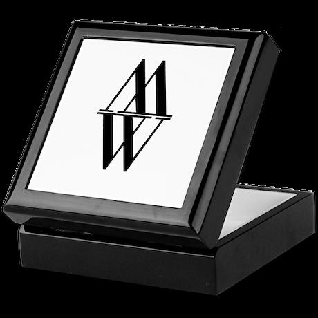 Initial Reflection Monogram Keepsake Box