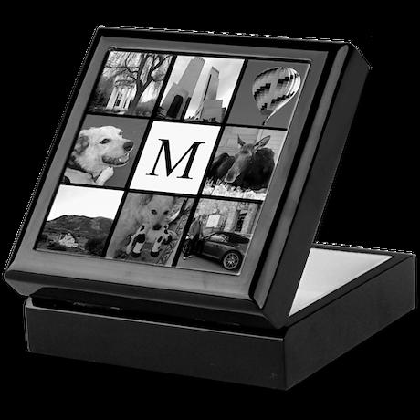 Monogrammed Photo Block Keepsake Box