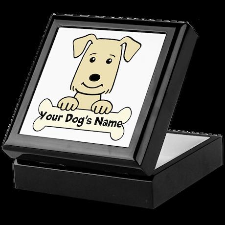 Personalized Golden Retriever Keepsake Box