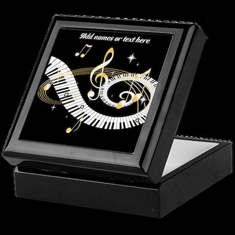 designer Musical notes Keepsake Box