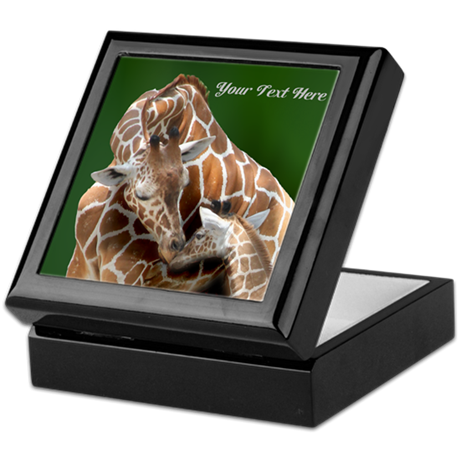 Giraffe Mom and Baby Keepsake Box