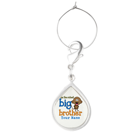 Custom Big Brother Monkey Teardrop Wine Charm