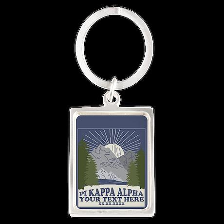 Pi Kappa Alpha Mountain Personal Portrait Keychain