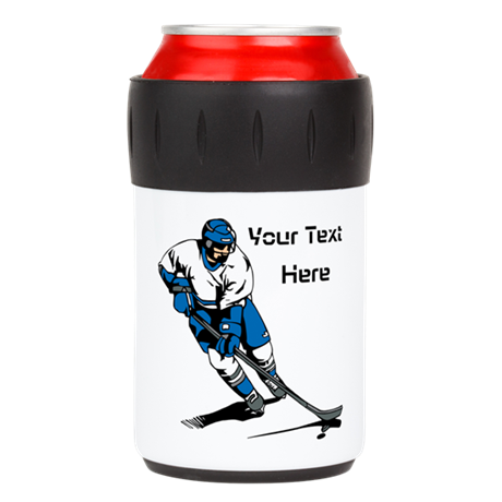 Icy Hockey. With Your Text. Can Insulator
