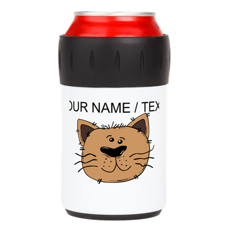 Custom Brown Cat Can Insulator