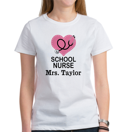 Personalized school nurse t shirt by schoolnursetshirts for Custom school t shirts
