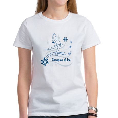 Personalized Ice Skater Women's T-Shirt