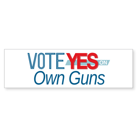 Vote for 8_bumpersticker Bumper Sticker