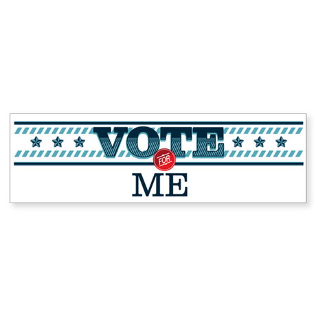 Vote for 5_bumpersticker Bumper Sticker
