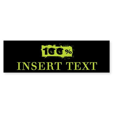 100% Sticker (Bumper)