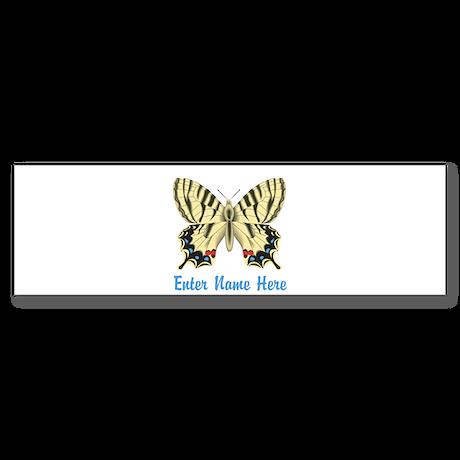 Personalized Butterfly Sticker (Bumper)