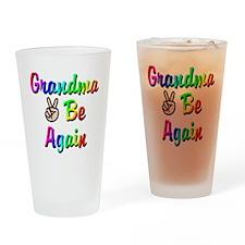 Peace Grandma To Be Again Drinking Glass