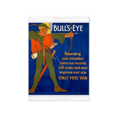 Bulls-Eye, Archer, Vintage Poster 5'x7'Area Rug