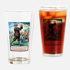 Golf, Motivational, Vintage Poster Drinking Glass