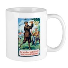 Golf, Motivational, Vintage Poster Mugs