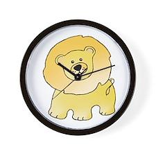 Yellow Lion Wall Clock
