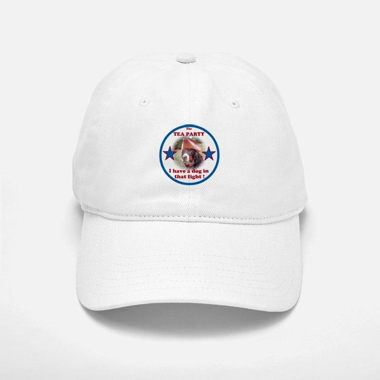 Dog in Fight Baseball Baseball Cap