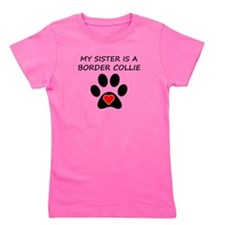 Border Collie Sister Girl's Tee