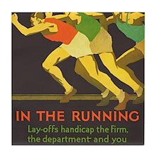 In the Running, Motivational, Vintage Poster Tile