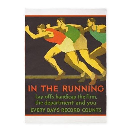 In the Running, Motivational, Vintage Poster 5'x7'