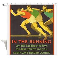 In the Running, Motivational, Vintage Poster Showe