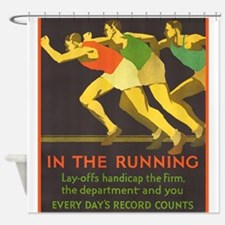 In the Running, Motivational, Vintage Poster Showe