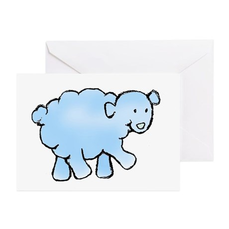 Blue Lamb Greeting Cards (Pk of 10)