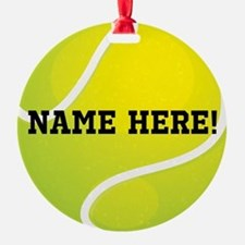 Personalized Tennis Ball Ornament