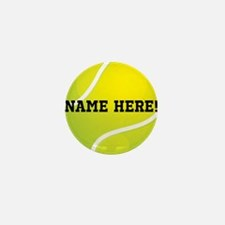 Personalized Tennis Ball Mini Button (10 pack)