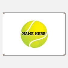 Personalized Tennis Ball Banner