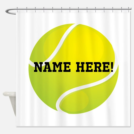 Personalized Tennis Ball Shower Curtain