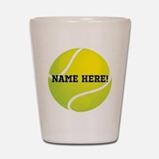 Personalized Tennis Ball Shot Glass