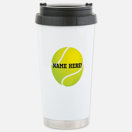 Personalized Tennis Ball Travel Mug