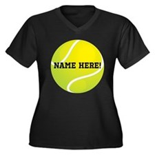 Personalized Tennis Ball Plus Size T-Shirt