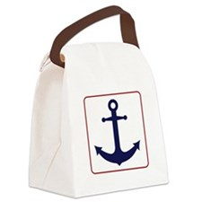 Nautical Anchor - White Blue and Red Canvas Lunch