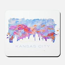 Kansas City Skyline Watercolor Mousepad