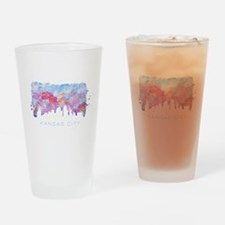 Kansas City Skyline Watercolor Drinking Glass