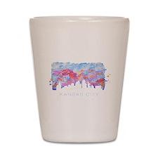 Kansas City Skyline Watercolor Shot Glass