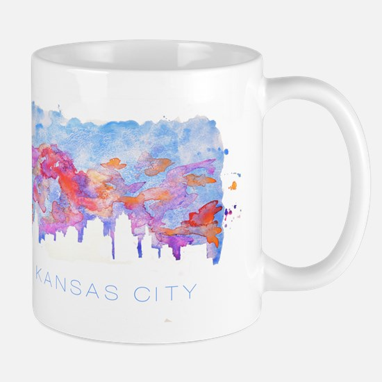 Kansas City Skyline Watercolor Mugs