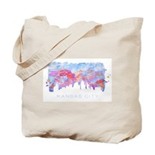 Kansas City Skyline Watercolor Tote Bag